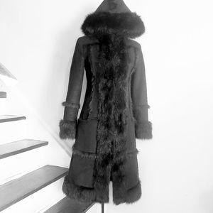 Vintage Marciano Hooded Coat